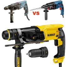 Bosch, Makita, DeWalt: сравнение 3 популярных производителей перфораторов