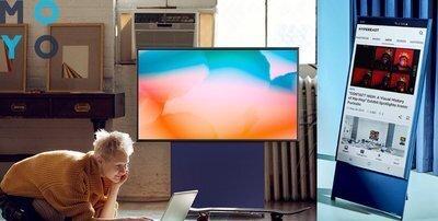 Вертикальный телевизор Samsung с экраном The Sero, Или как модель 4К превращается в ультрасовременный мольберт