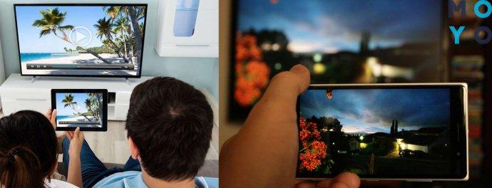 подключение телефона к телевизору через Miracast