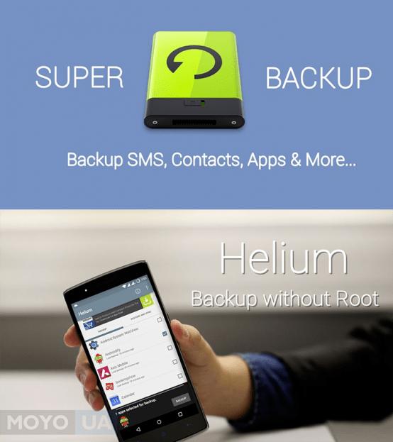 утилиты Super Backup и Helium