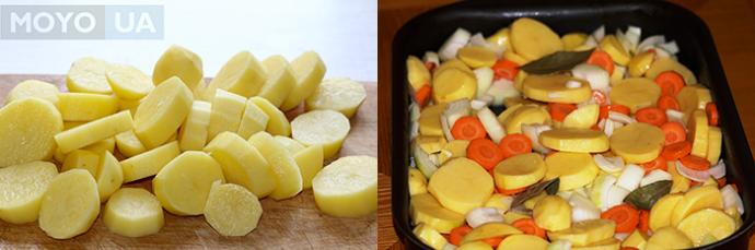 Тушеный картофель в духовке с морковью