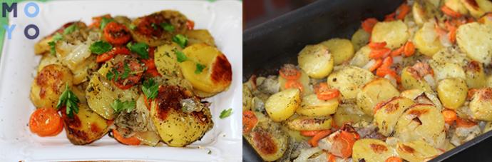 тушение картофеля