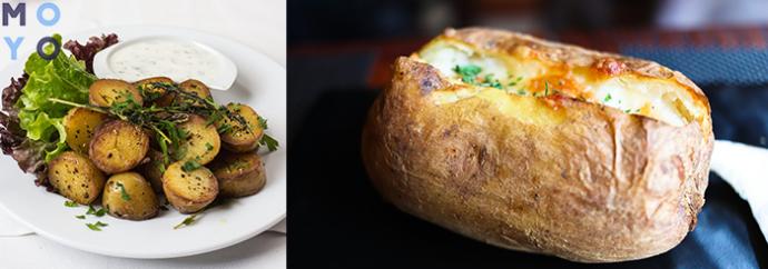 Печеный картофель в духовке с надрезом в фольге