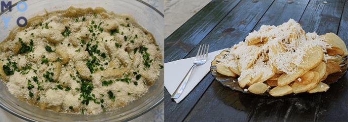 картошка запеченная под сыром