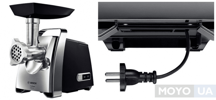 мощная мясорубка Bosch MFW67440 с отсеком для провода