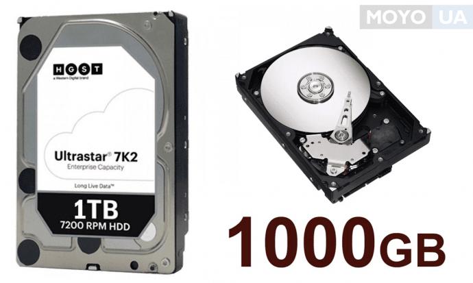"""жесткий диск HGST 3.5"""" SATA 3.0 1TB 7200RPM"""