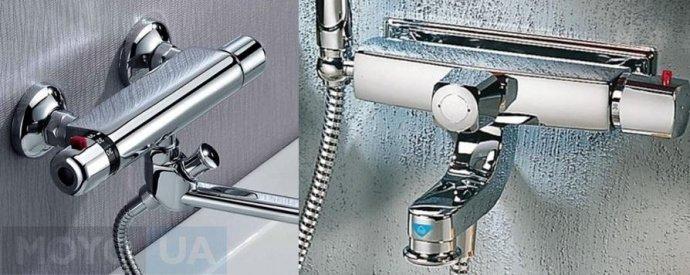 Два термостатических смесителя для ванной