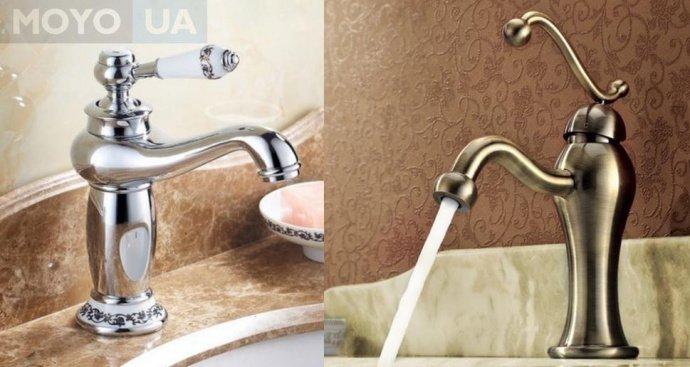 Смеситель для ванной из бронзы и из латуни с хромированной поверхностью