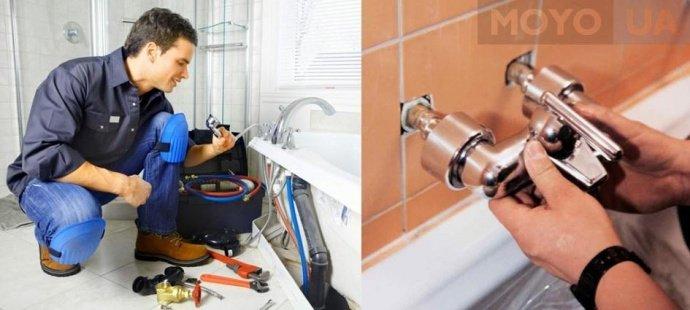 Монтаж врезного и настенного смесителя для ванной