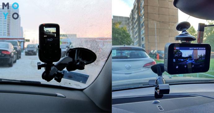 Автомобильные видеорегистраторы на лобовом стекле