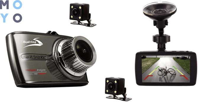 моноблочный видеорегистратор Aspiring ALIBI 3 с дисплеем