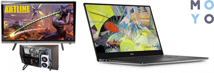 игровой моноблок ARTLINE Gaming M99 v09 и геймерский лэптоп DELL XPS 15