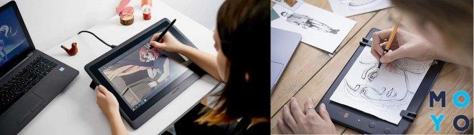 Подключение графического планшета к ноутбуку