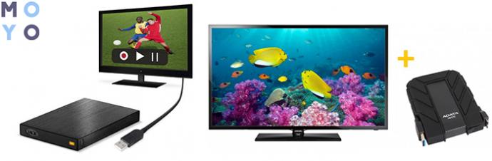подключение внешнего HDD к телевизору
