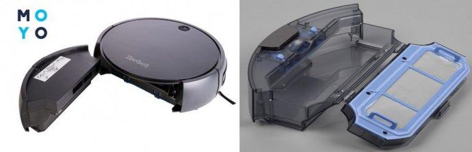 Очистка фильтра и пылесборника робота-пылесоса