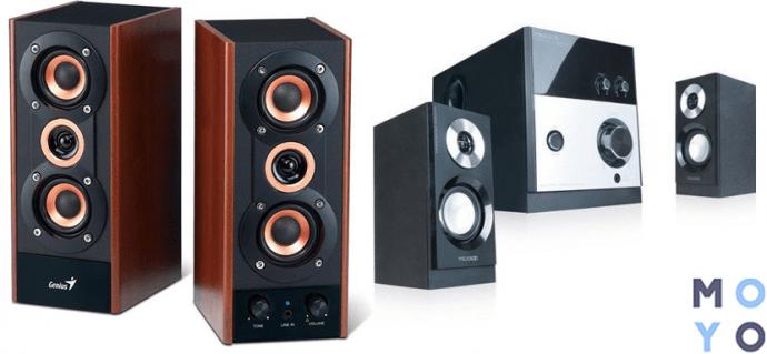 акустика 2.0 SP-HF800A и 2.1 M-880
