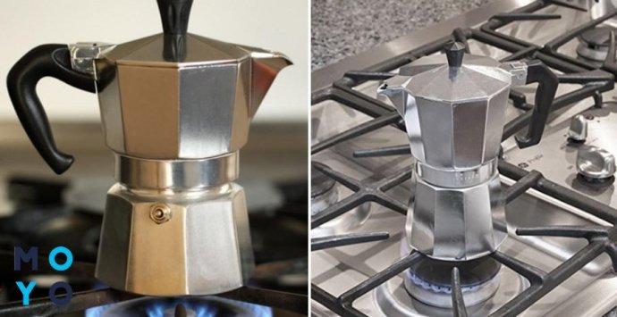 Гейзерная кофеварка для газовой плиты
