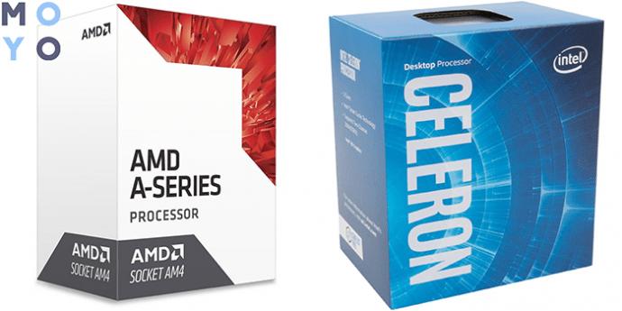 процессоры для простых задач AMD Bristol Ridge A6-9500 и Intel Celeron G4900