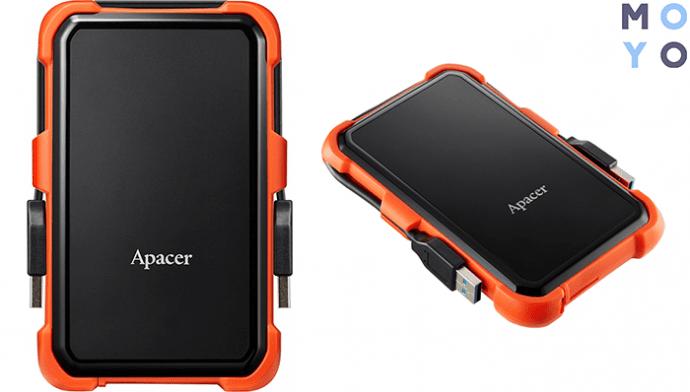 "APACER 2.5"" USB 3.1 AC630 2TB Black/Orange (AP2TBAC630T-1)"