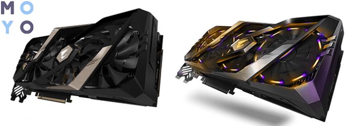 мощная GIGABYTE GeForce RTX2080 8GB GDDR6 Aorus