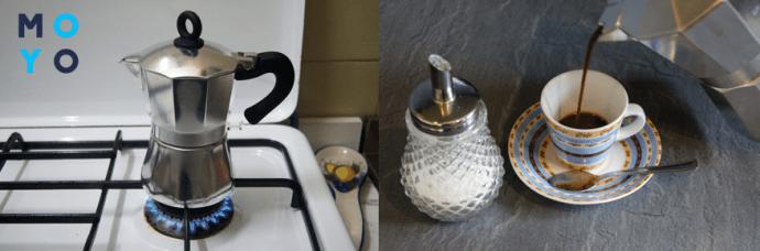 Алюминиевые гейзерные кофеварки подходят для газовой и электроплиты