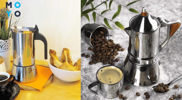 Практически все модели кофеварок из нержавейки цвета «металлик»