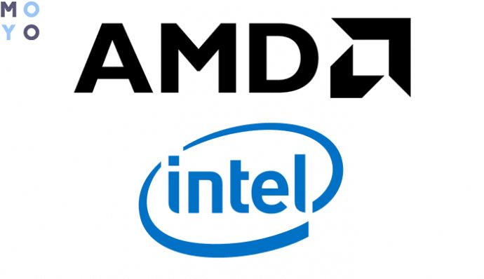 производители ЦПУ АМД и Интел