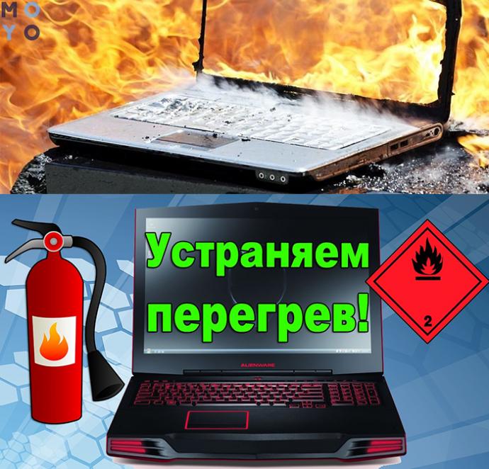 защита ноутбука от перегрева