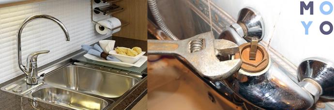 ремонт кухонного крана — замена картриджа