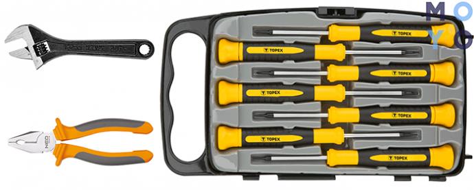 ручные инструменты для замены картриджа в кухонном смесителе