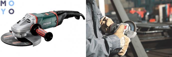 угловая шлифмашина Metabo W 26-230 MVT с регулировкой оборотов, защитой от перегрузок и пыли