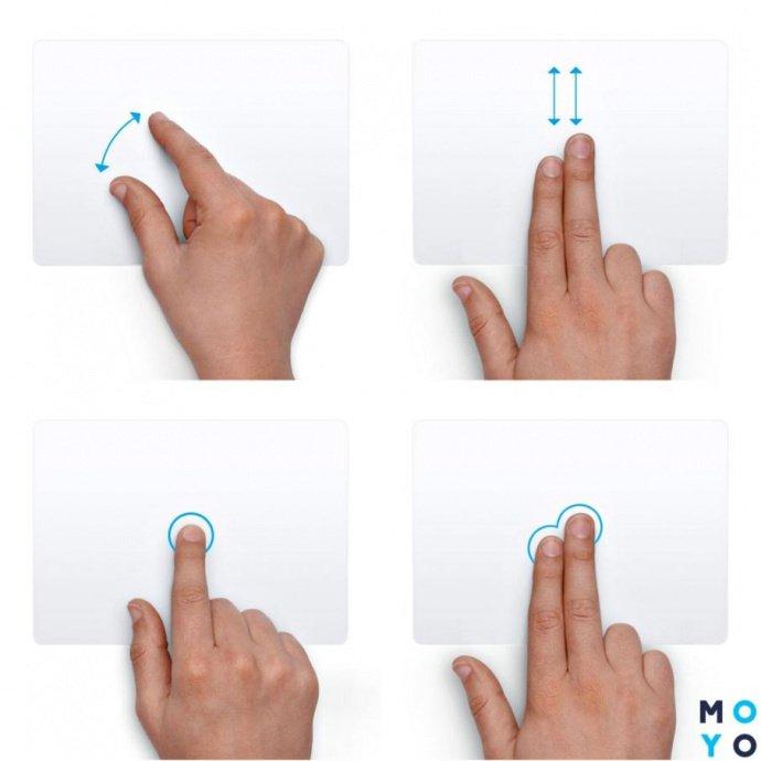 Multi-Touch жесты MacBook