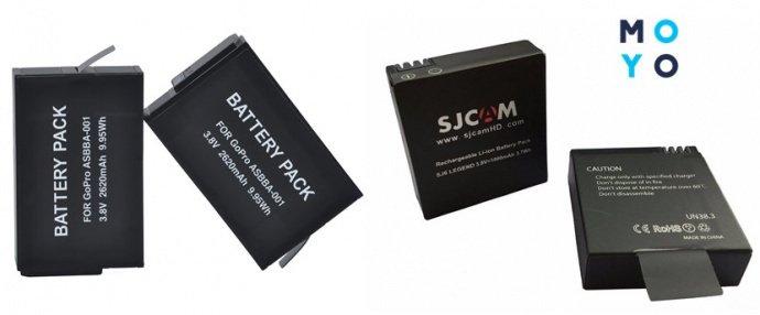 Аккумуляторы для экшн-камеры