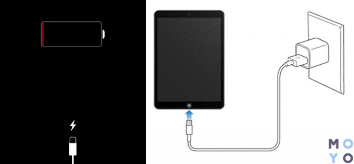 Проблемы с зарядным устройством iPad