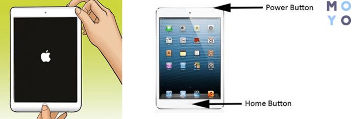 Жесткая перезагрузка iPad