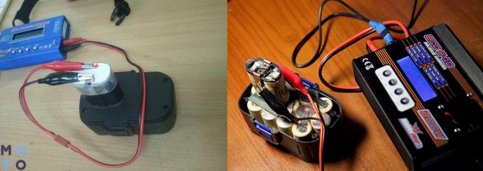 зарядка аккумулятора шуруповерта универсальным ЗУ