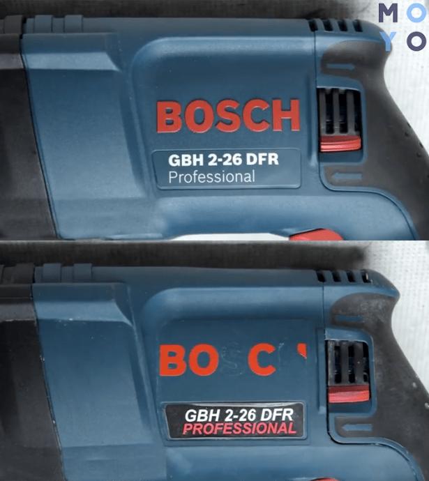 как отличить подделку Бош от оригинала по надписи