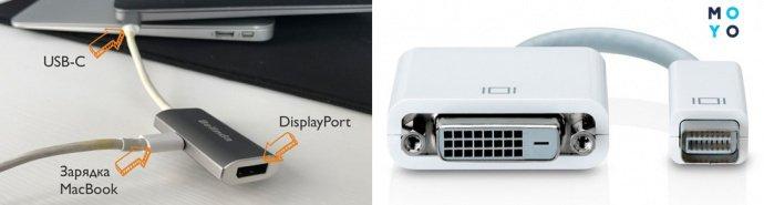 Подключение MacBook к монитору через адаптер