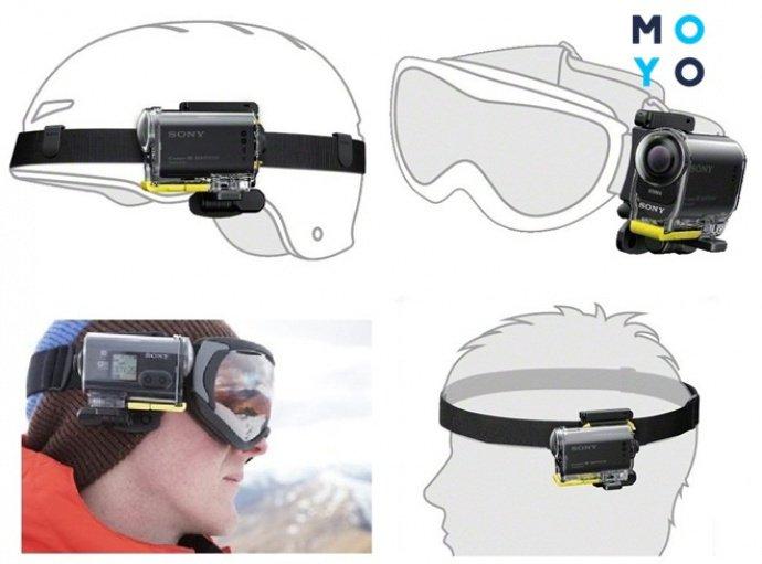 Способы закрепления экшн камеры на голове и шлеме