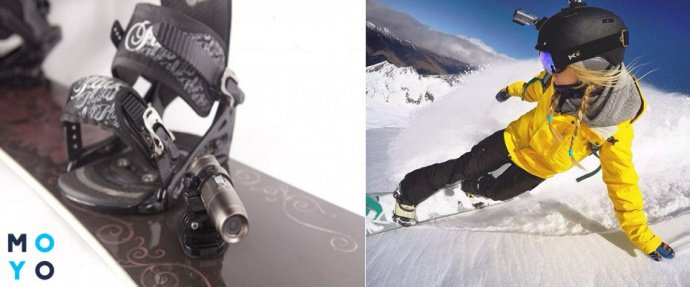 Крепление экшн камеры для сноуборда