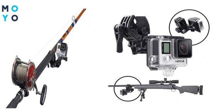 Крепление экшн камеры для рыбалки и охоты