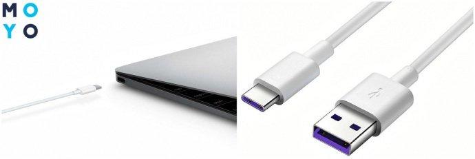 Зарядка ноутбука с помощью интерфейса USB 3.1