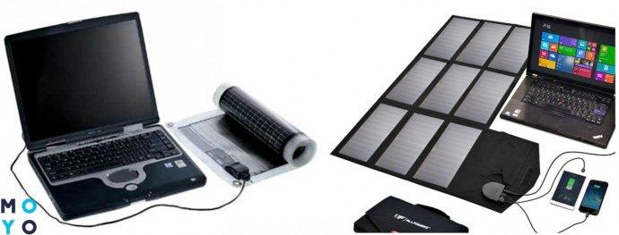 Зарядка ноутбука с помощью солнечной батареи
