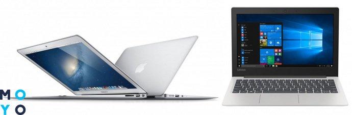 сравнение макбуков и обычных ноутбуков