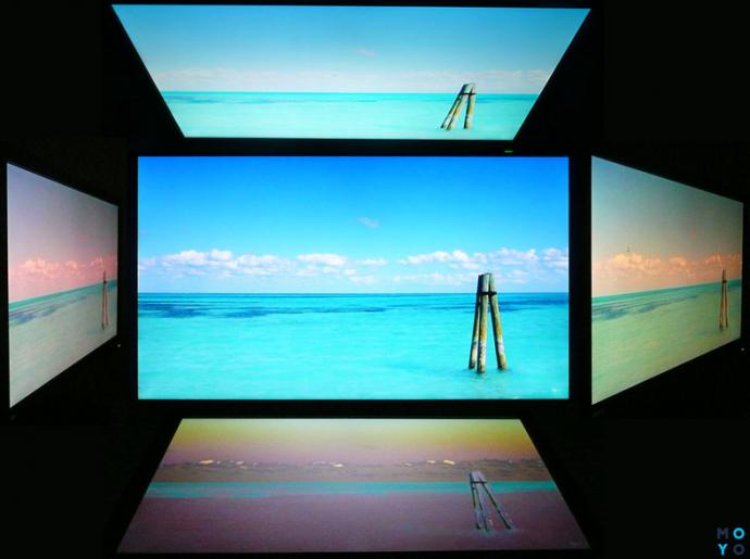 Вид на монитор под разными углами