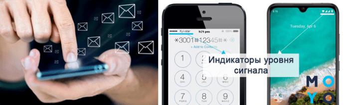 Индикация сигнала оператора мобильной связи