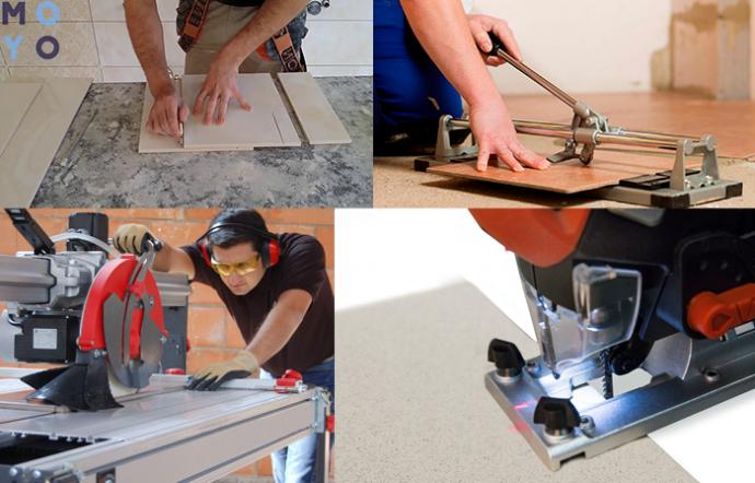 резать плитку без сколов
