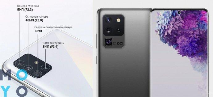 смартфон с 4 камерами