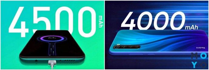Аккумуляторы Xiaomi Redmi Note 8 Pro и Xiaomi Redmi Note 8T