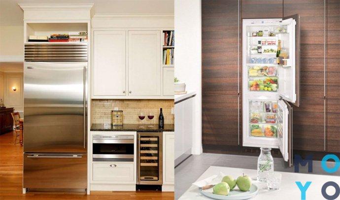 встраивание обычного холодильника